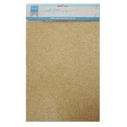 Cartoncino Glitter Oro - 5 pezzi formato A4 300g Marianne Design