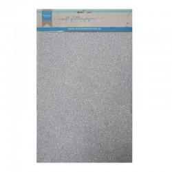 Cartoncino Glitter Argento - 5 pezzi formato A4 300g Marianne Design