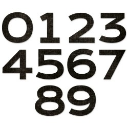 Fustella Numeri Sizzix • Countdown by Tim Holtz 665367