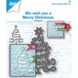 Fustella Albero di Natale Joy!Crafts WeWishYou 6002-1533
