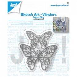 Fustella Farfalle Joy!Crafts Butterflies 6002-1462