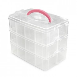 Storage Box - Scatola Porta Utensili con 24 scomparti - Vaessen Creative 22,5 x 15,5 x 18,5 cm