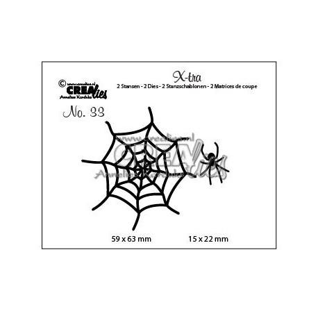 Fustelle Halloween Crealies Spider web - Fustella Metallica Ragnatela e Ragno CLXTRA33