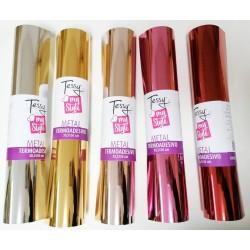 Termoadesivo Metal - Vinile Termico Adesivo - Foglio 30,5x50cm - TESSY Termico Metallizzato