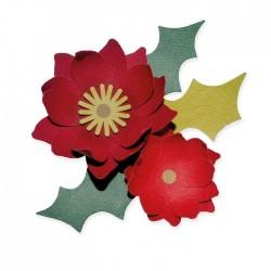 Fustella Stella di Natale Sizzix Bigz Die Winter Poinsettia 664513