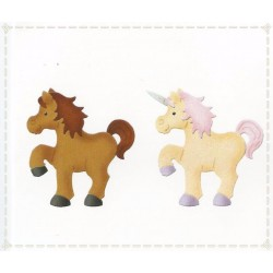 Unicorno - Pony - Fustellato in gomma crepla